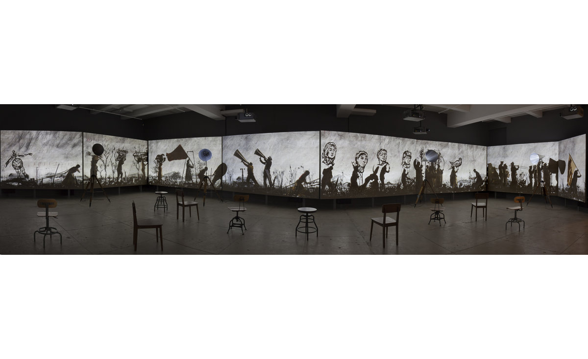 WILLIAM KENTRIDGE. More Sweetly Play the Dance (2015) & Notes Toward a Model Opera (2015)